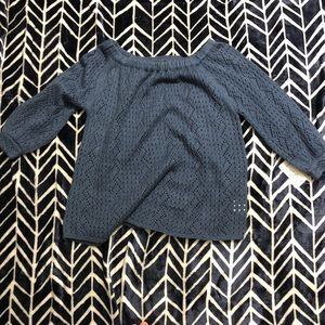 Style & company blue scoop neck sweater